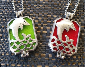 Dolphin Essential Oil Diffuser Pendant Necklace