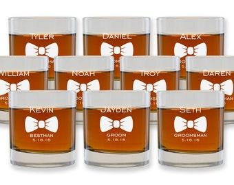 Personalized Cocktail Glasses - Groomsmen Whiskey Glass - Engraved Scotch Glasses - Groomsmen Gift Ideas - Wedding Favor - Set of 10 - GW933
