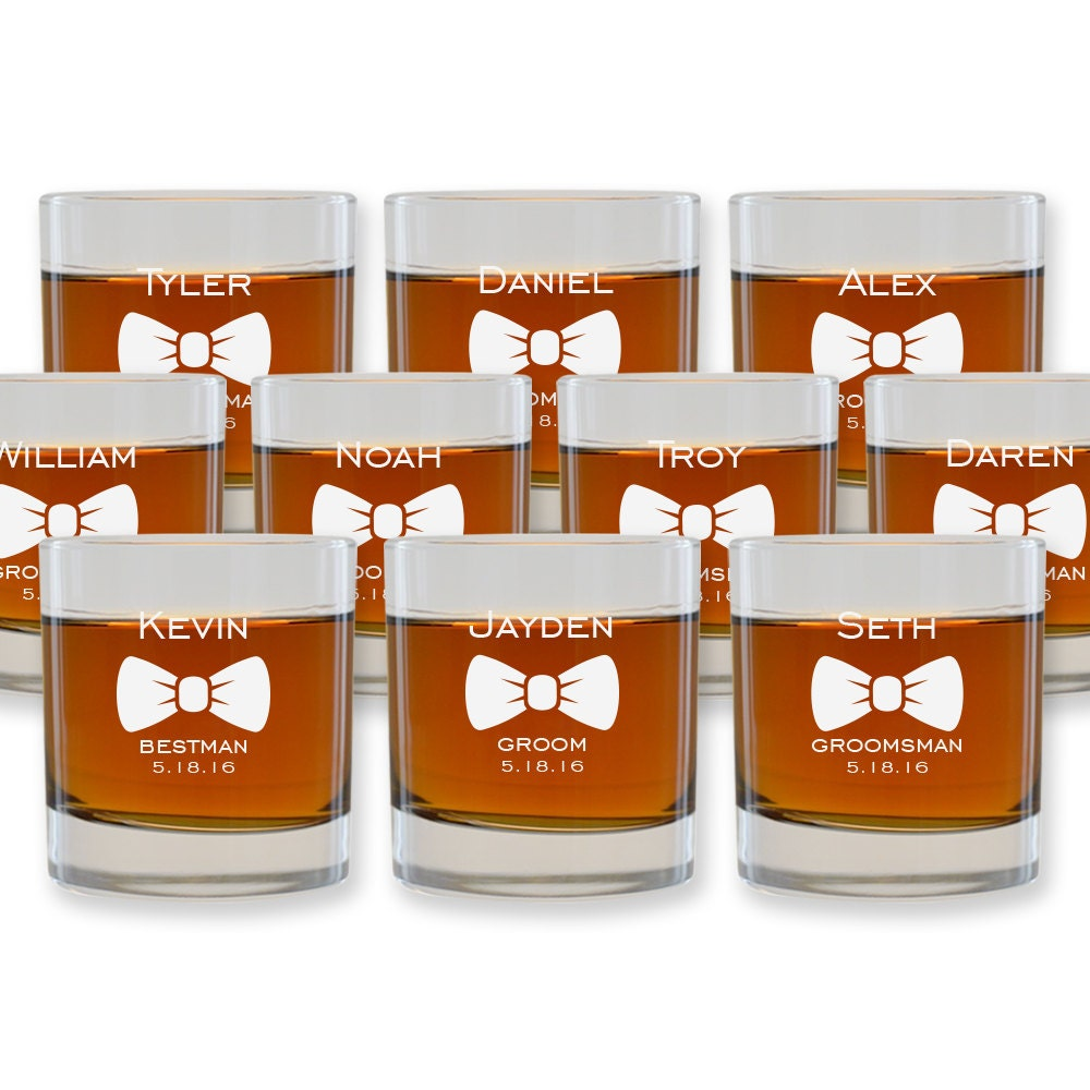 Wedding Gift Cocktail Glasses : Personalized Cocktail Glasses Groomsmen by FrooluWeddingShop