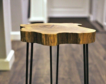 Black locust hairpin side table
