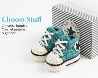Baby High Top Booties Crochet Pattern
