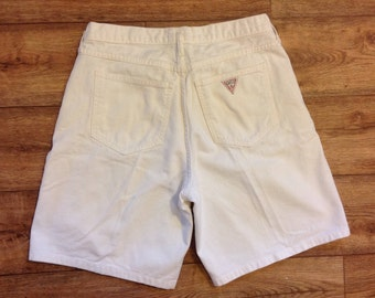 Vintage GUESS white denim shorts