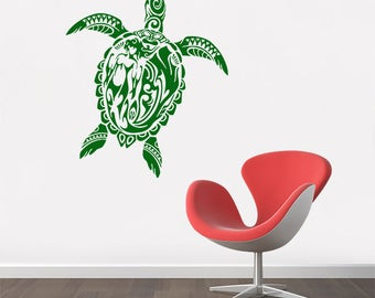 Tribal Honu Turtle Decals - Multiple Colors and Sizes