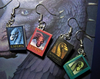 Miniature book jewelery Earrings Eragon Inheritance Book series