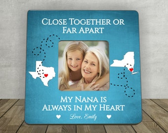 Gift for Nana, Mother's Day Gift for Nana, Nana Gift, Personalized Picture Frame, Close Together or Far Apart Nana, Long Distance Nana Gift