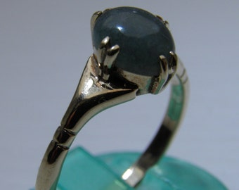 9ct Gold and Jade Ring