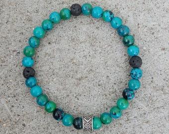 Essential oil diffuser bracelet. Aromatherapy jewelry. Lava bead diffuser bracelet. Beaded diffuser bracelet. Gemstone diffuser. Gift.