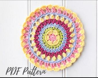 Quick crochet mandala PDF pattern
