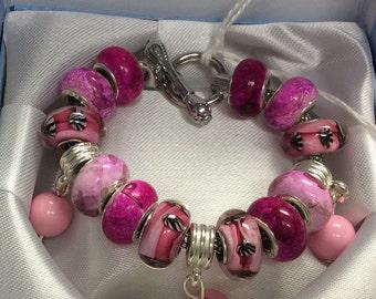 Toggle clasp European charm bracelet
