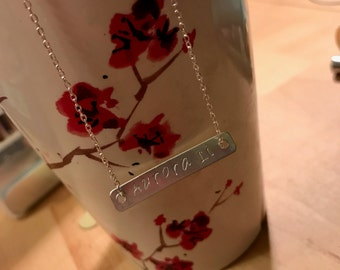 Custom made necklace. Simple and beautiful. Made to order