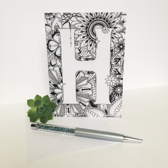 Zentangle Greeting Card Letter Cards Zentangle Cards