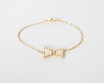 NŒUD Butterfly woven very pretty bracelet!