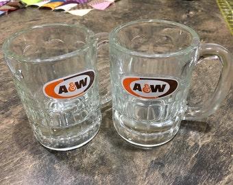 Vintage A&W Rootbeer Mugs