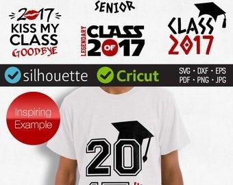 CLASS 2017 SVG cut files SENIOR class svg clipart for Cricut Graduating svg Graduate cap dxf Silhouette Studio files download vinyl design