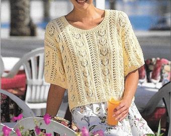 Ladies Short Sleeve Sweater Pattern