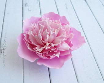 Pink Peony Hair Clip - Flowers Peony Hair Pin Accessories - Wedding Bride Hair Decoration - Prom Hair Clip Wedding Flowers - Bridesmaid Hair