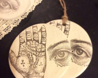 Palmistry ornament / Clay Ornament