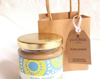 Organic Honey - Birthday Gift - Easter Gift - Shower Party - Creamed Honey - Food Gift - Personalised Message - Special Occasion