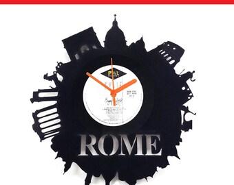 Rome Vinyl Clock