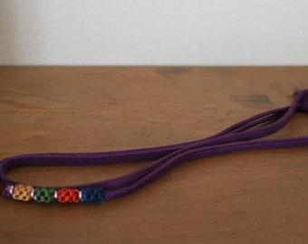 Obijime /// Silk belt, Silk Kimono belt, Silk Obijime, Purple belt, Vintage obijime, Vintage silk belt, silk cord, vintage silk cord, kimono