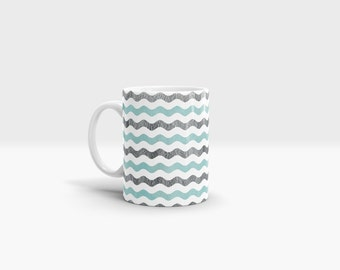 Waves Mug. 11oz Ceramic Mug.