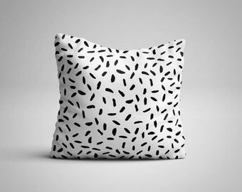 Black Dashes Cushion.