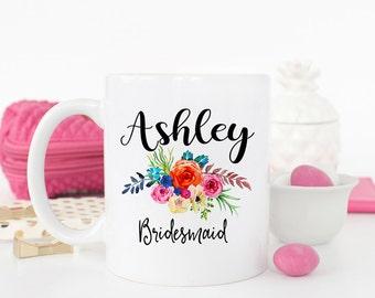 Bridal Party Mug, Bridesmaid Mug, Bridesmaid gift, Maid of honor mug, Custom Bridesmaid Mug, Wedding Party Gift, Bridesmaid cups, AAA_005