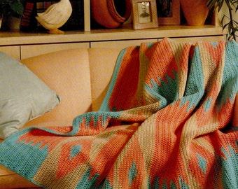 Vintage Navajo Afghan Crochet Pattern