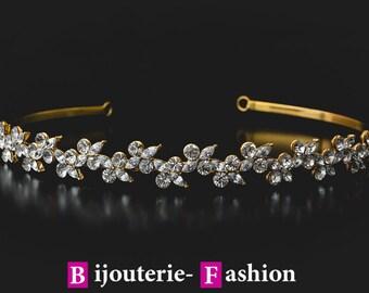 Deborah,Tiara, Crystal Crown,Bridal Tiara,Swarovski Crystal,Wedding tiara,Crown,Czech stones,accessory,royal diadem.