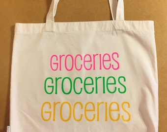SALE**40% OFF** Tote Bag / Tote Bags / Tote / Totes / Groceries / Grocery Bag / Handmade / Birthday Gift / Gift for Her / Shopping Bag
