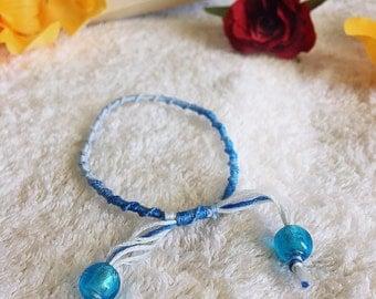 Blue Gradient Friendship Bracelet