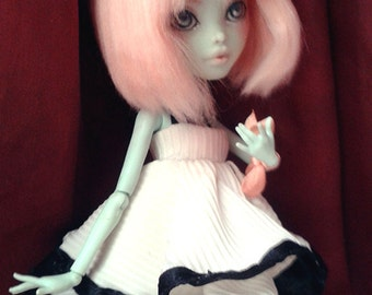 OOAK Cute Pink Frankie Doll (repaint&reroot custom monster high)