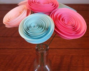"Paper Flower Bouquet- ""Cotton Candy"""