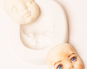 Gypsum mold for make doll faces teddy doll