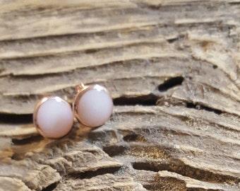 Rose gold breastmilk earrings