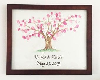 Guest  Book Thumb Print Tree