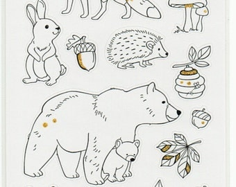 Forest Animals Art Therapy Glitter Stickers Forever In Time Scrapbook Embellishments Cardmaking Crafts