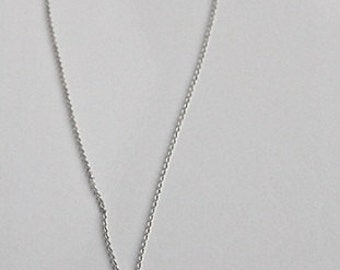 925 Sterling silver necklace with white freshwater pearl and black spinel pendant