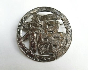 Vintage Happiness Chinese Symbol Pin