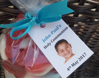 First holy communion personalised photo favour gift tags x 20