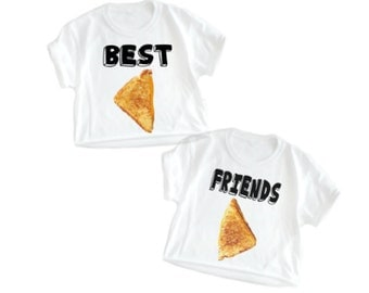 Best friends Shirts, Best Friend shirts, Best Friend Food, Matching best friends, Grilled cheese, wearable food, Plus size too!