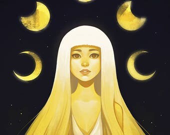 Moon Goddess Poster Print Art