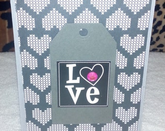 Valentines Greeting Card with Custom Envelope