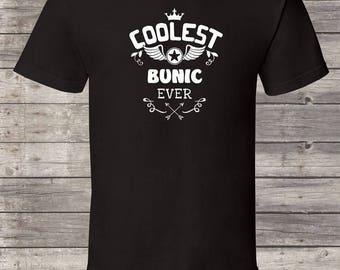 Coolest Bunic ever, Bunic Birthday tshirt, Bunic Shirt, Bunic Gift Idea, Baby Shower, Fathers day, 1