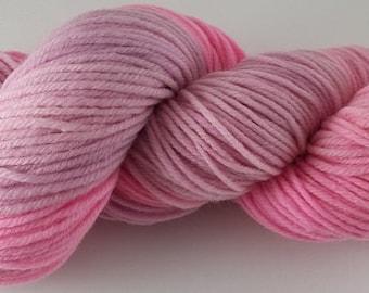 50/50 - Spring Pinks  - 100% Superwash Merino Wool SW Hand Dyed Worsted Weight Yarn