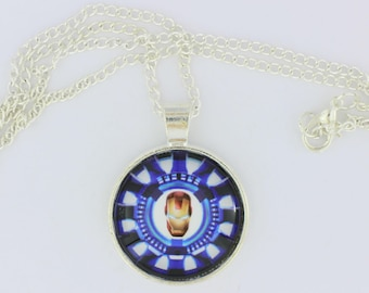 Ironman Arc Reactor Mask Necklace or Keychain Tony Stark Comic Book and Movie Inspired