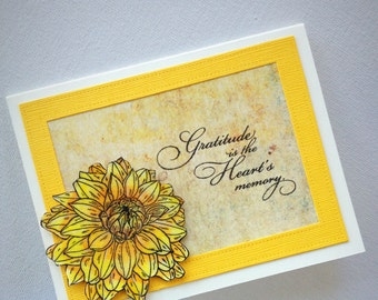 Handmade thank you cards, thank you notes, thank you cards, floral cards, flower cards, unique cards, thank you, gratitude cards, handmade
