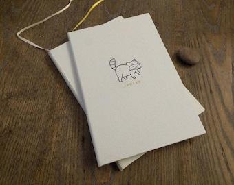 Happy Raccoon - Hardcover Notebook