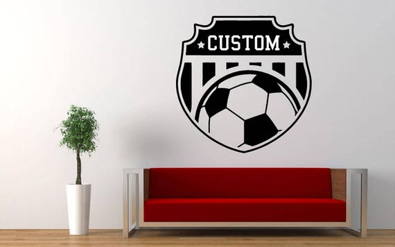 Custom Name Soccer Plaque Wall Decal - Nursery Room Decor - Kids Room Wall sticker - Nursery Wall Decal  - Home Decor - Soccer Wall Decal