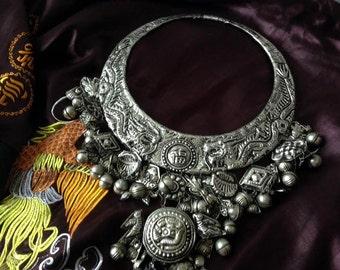 necklace vintage silver ethnic gejia miao